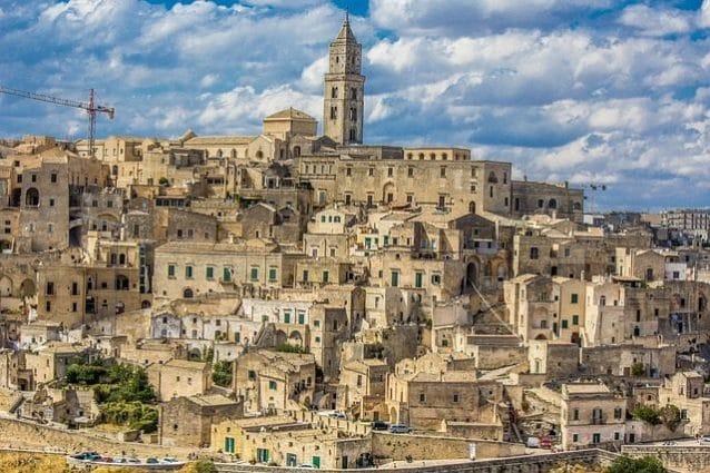 Matera, Veduta della Civita da Santa Maria di Idris – Foto Wikipedia